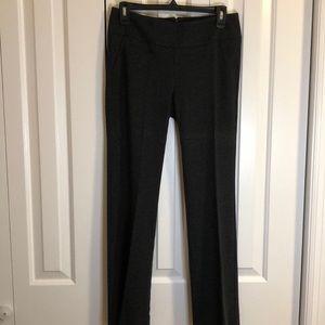 Cabi dark gray knit pants size 4 rear zipper EUC